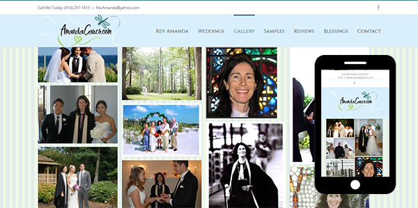 Beautiful Design Styles with Mobile SEO - Amanda Wedding Officiant