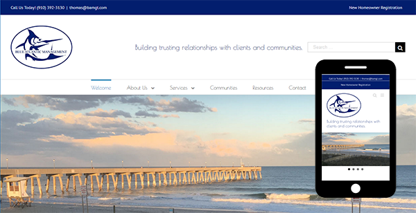 Blue Atlantic Property Management - Web Design and SEO
