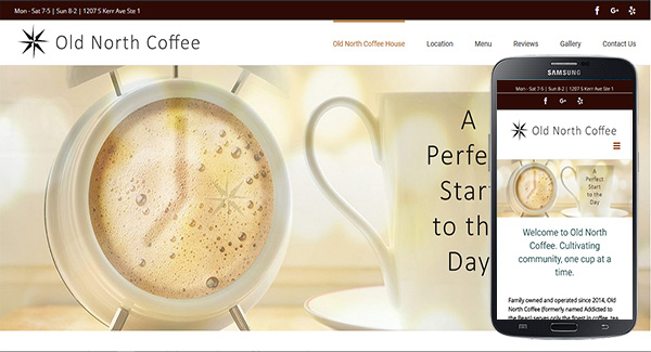 Web Design Project - Old North Coffee